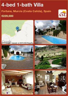 4-bed 1-bath Villa in Fortuna, Murcia (Costa Calida), Spain ►€229,000 #PropertyForSaleInSpain