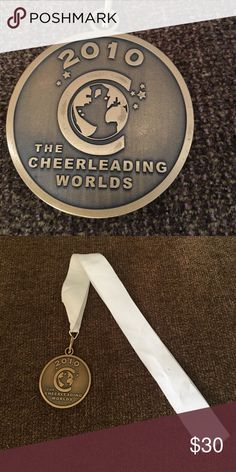 2010 bronze cheerleading worlds medal Lady bullets 3rd place small senior worlds medal Accessories