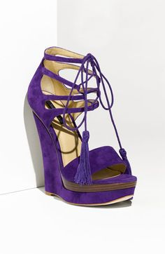 Rachel Zoe 'Kayne' High Wedge Purple