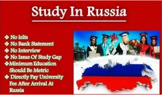 "Study in Russia    Overseas Education consultants  #Study in #Russia/ ""Arsa Study Consultant""  www.arsaconsultant.com  #State Universities in #Moscow  No IELTS required. May-june Intake. Process Time 40 to 45 days  Transfer Facility to #Europe. Education Minimum Matric. Language , Bachelor, Master and MD Program. #Gateway to Europe.  Call Us For Further Details.  Arsa Study Consultant Lahore Pakistan 042 3517 6829 : Land Line 0334 427 9527 : Call / Whats-app"