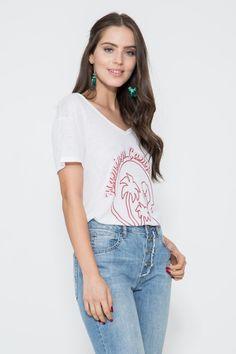 Blusa Flamingo Camp - 02017682 | Oh, Boy! - ohboy