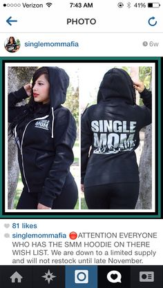 Single Mom Mafia hoodie. // I want this!