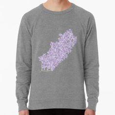 'Beautiful Lilac Branch' Lightweight Sweatshirt by ErinFCampbell Graphic Sweatshirt, T Shirt, Lilac, Sweatshirts, Plants, Sweaters, Stuff To Buy, Beautiful, Collection