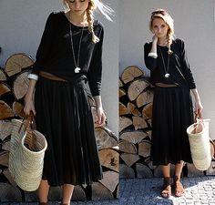 Black transparent dress. (by Dzes A.)