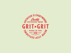 Grit x Grit Badge badge logo badge gear script typography camp vintage branding wilderness outdoors outdoor Vintage Typography, Vintage Branding, Typography Logo, Typography Design, Vintage Logos, Design Logo, Badge Design, Branding Design, Design Design