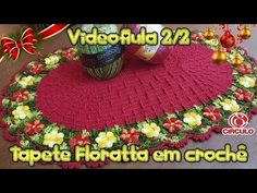 Tapete Floratta em crochê 2/2 - YouTube