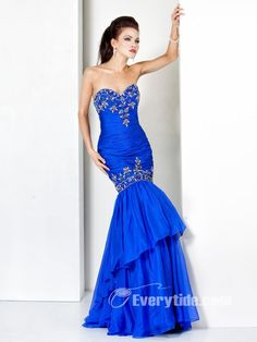 Clearance Sale  $ 65.99  Picture Color US 10 Trumpet / Mermaid Chiffon Homecoming Dresses