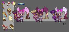 ArtStation - Candy girl concept for Dungeon Hunter Champions , Xuexiang Zhang