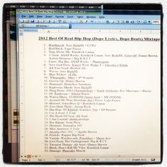 It's a wrap! Be on the lookout for this mixtape soon- Brimstone Sounds presents The Best Of REAL HipHop In 2012 'Beats & Lyrics'. This mix is .