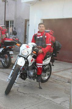 Servicio de Emergencia en Motocicleta en Cruz Roja Mexicana Delegación Culiacán, Sinaloa, Utilizando OMNI Pro Fire en su servicio. EMS México Equipando a los Profesionales