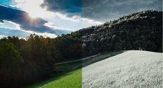 convertir un paisaje de verano en uno de invierno con Photoshop.