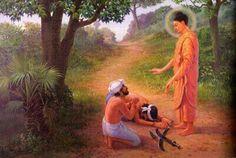 Buddha help two men