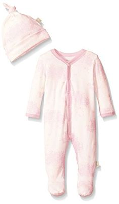 Burts Bees Baby Baby Organic Toile SnapFront Coverall and Hat Set Cherry Blossom 69 Months ** More info could be found at the image url.Note:It is affiliate link to Amazon. #miami