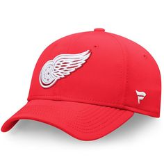 Detroit Red Wings Fanatics Branded Elevated Core Speed Stretch Fit Flex Hat - Red