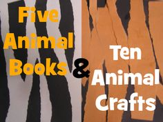 Bunches of animal books and crafts to do! #readforgood -- 5-animal-books-and-10-animal-crafts