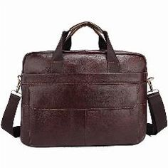 d8667e9f3692   17% OFF   Genuine Leather Men Briefcases Handbag Document Brown Business  Office Laptop Bag