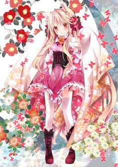 Anime Kawaii Girl /^ω^\ - Anime Kimono 2 - Wattpad Anime Neko, Anime Wolf, Lolis Neko, Loli Kawaii, Kawaii Anime Girl, Anime Girls, Anime Kimono, Fan Art Anime, Anime Artwork