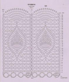 "Photo from album ""Занавески"" on Yandex. Filet Crochet, Diy Crochet And Knitting, Crochet Wool, Crochet Borders, Crochet Diagram, Crochet Stitches Patterns, Crochet Chart, Thread Crochet, Crochet Motif"