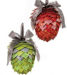 Love this! Paper pinecones made with @DCWV Inc.! :)
