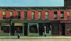 Early Sunday Morning, 1930, Edward Hooper, Interview with Edward Hooper, June 17, 1959.