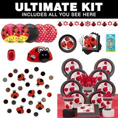 Check out Ladybug Birthday Party Ultimate Tableware Kit Serves 8 - Wholesale Party Supplies from Wholesale Party Supplies