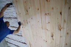 wood slat ceiling!!