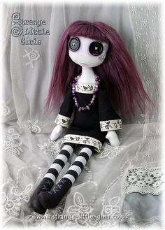 Hey, I found this really awesome Etsy listing at https://www.etsy.com/listing/239209970/gothic-art-doll-with-button-eyes-large