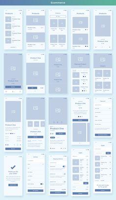 Collector iOS Wireframe UI Kit , web and app design Web And App Design, Web Design Trends, Ui Ux Design, Wireframe Design, Web Design Quotes, Web Design Tips, Design Websites, User Interface Design, Design Responsive