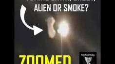 ZOOMED: FLYING GHOST, ENTITY, ALIEN, SMOKE OR TEAR GAS FUMES??E?