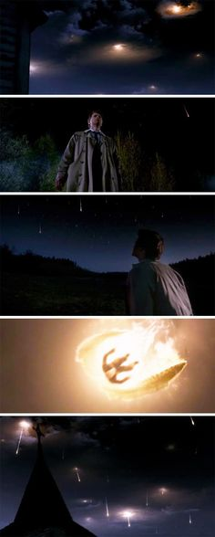 """[SET OF GIFS] SPOILER ALERT!  """"The angels... they're falling.""""  8x23 Sacrifice. This was beautiful and tragic and terrifying and such a great ending to the season."""