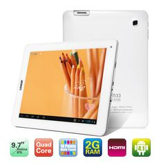 Aoson M33 9.7 Inches IPS Screen Android 4.1 Quad Core Rockchip RK3188 1.8GHz Tablet PC with 2GB RAM 16GB Memory Wi-Fi Dual Camera(White)
