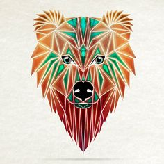 one of my favorites | geomatric bear head | perfect for draw inspiration... I'm so gonna try this <3