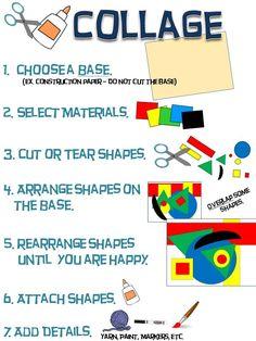 39 Super Ideas For Collage Art For Kids Schools Classroom Posters, Art Classroom, Classroom Signs, Middle School Art, Art School, Art Room Posters, 7 Arts, Art Handouts, Art Worksheets