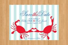 Preppy Maryland crab save-the-date by Preppy Paperie Wedding 2015, Wedding Trends, Our Wedding, Wedding Ideas, Wedding Inspiration, Party Planning, Wedding Planning, Bridesmaid Duties, Best Friends For Life