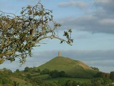 Glastonbury Tor and the Holy Thorn on Wearyall Hill. Somerset, England.