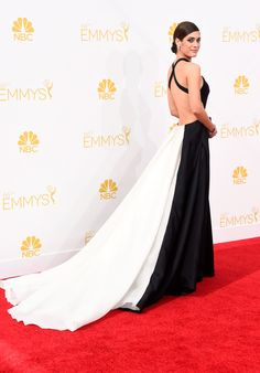 15 Most Glamorous Gowns at the Emmys 2014 Lizzy Caplan in Donna Karan Atelier