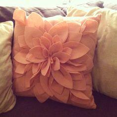 Pink Felt Valentines Pillow