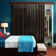 Closet door alternative on pinterest door alternatives for Bedroom without closet options and alternatives