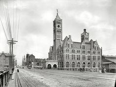 "Circa 1900. ""Union Station, Nashville, Tennessee."""