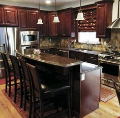 1000 Images About Kitchen On Pinterest Cherry Wood