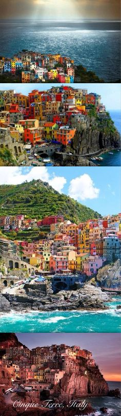 The Cinque Terre, Italy Abbie and I went with her GS troop in June 2013.  Got to all but the northernmost town.  Hiked from town 3 to 4 (if headed north) and it was hard!  But gorgeous!