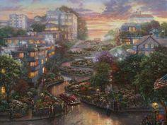 San Francisco, Lombard Street II - Thomas Kinkade Studios (63 pieces)
