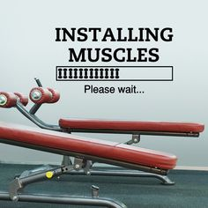 Sports Quotes Wall Decals Installing Muscles by FabWallDecals