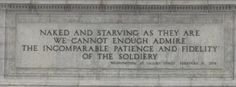 Washington quote on the National Memorial Arch in Valley Forge