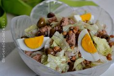 salata cu ton si oua fierte 11 Cobb Salad, Green, Fish, Salads