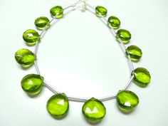 Exquisite Pretty Peridot Quartz 8 Strand Extremely by StarGemBeads