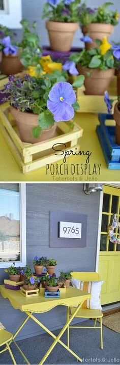 DIY Flower Pot | Curb Appeal on a Budget by DIY Ready at http://diyready.com/diy-ideas-home-improvement-on-a-budget/