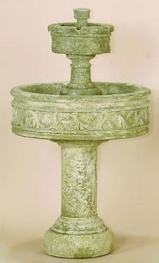Paestum Two Tier Fountain with Tall Base  1148