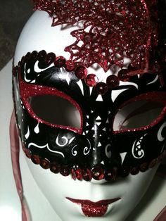 Beautifully Unique HandPainted Black Red and White by HellaCity, $40.00