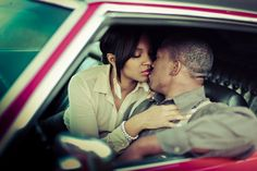 """Janeese Palmer & Jason Snelling - A """"Bonnie & Clyde"""" Themed Engagement - Kelly Is Nice Photography   www.kellyisnice.com"""